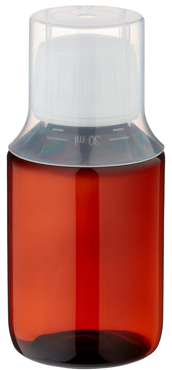 100 ml pet medizinflaschen mit wei em schraubverschluss ov und dosierbecher 30ml naturfarbe. Black Bedroom Furniture Sets. Home Design Ideas