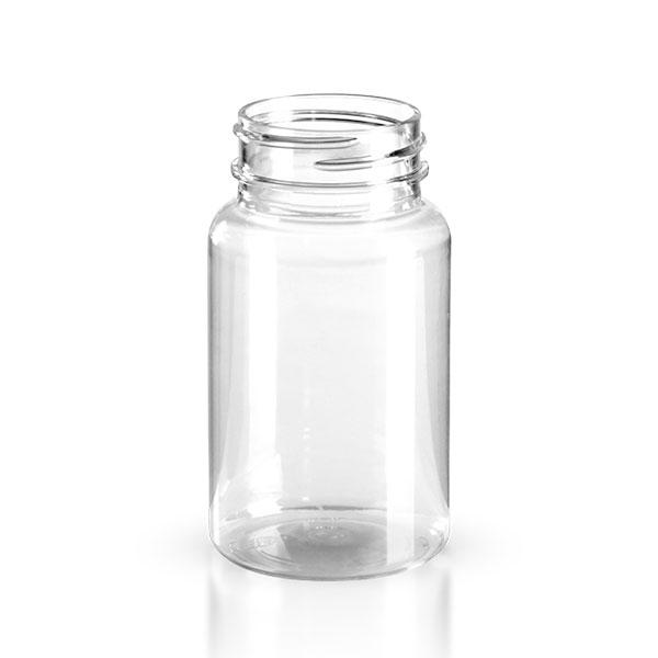 petpacker 100ml glasklar ffn 38mm ohne deckel petpacker glasklar petpacker schraubdosen. Black Bedroom Furniture Sets. Home Design Ideas