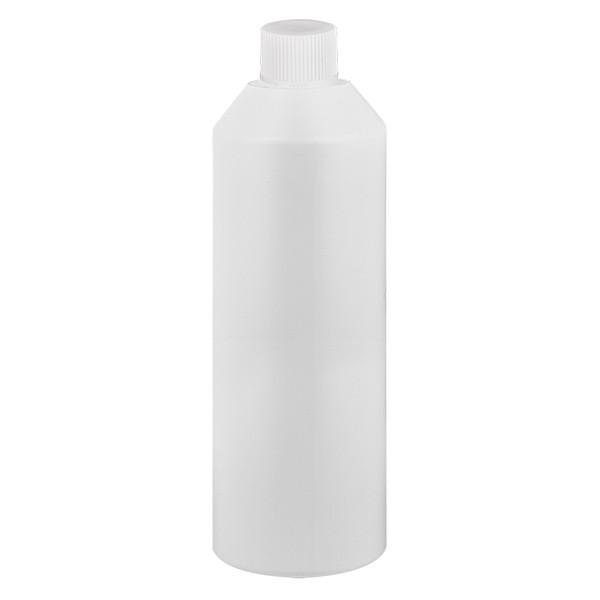 Zylinderflasche HDPE 250ml weiss, S20x3 mit weissem SV