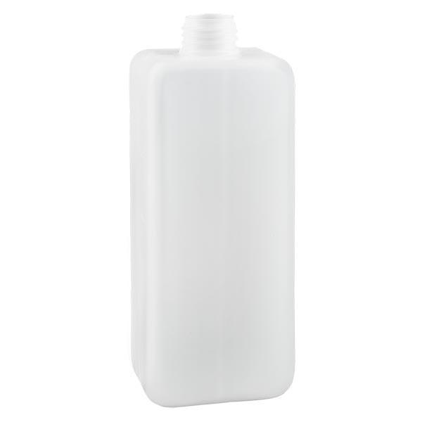 Chemikalienflasche 1000ml, Enghals aus PE-HD, naturfarbig, GL 32