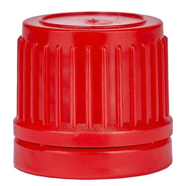 Schraubverschluss, rot, DIN18, mit OV