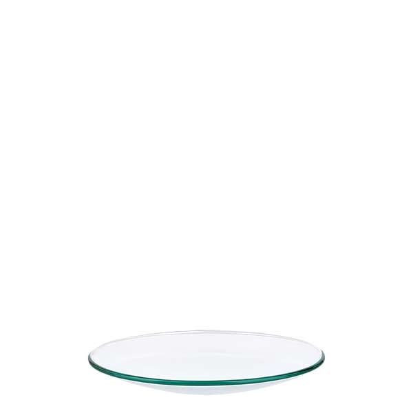 Uhrglasschale 80 mm - Borosilikatglas 3.3 - verschmolzener Rand