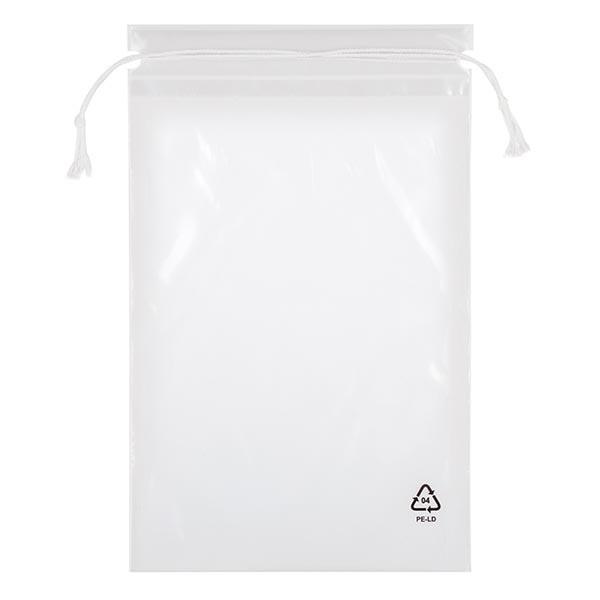 100 LDPE-Beutel mit Kordelzug, 250 x 370 (400 Kordel)