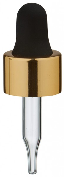 UNiTWIST Glas-Tropfpipette gold/schwarz 13mm PL28