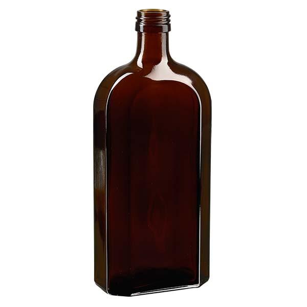 500 ml braune Meplatflasche mit PP 28 Mündung