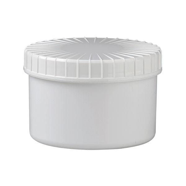 250ml Schraubdose aus weißem Kunststoff inkl. Deckel