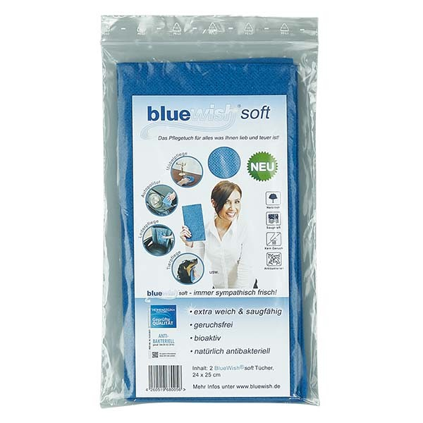Bluewish soft. Das Pflegetuch für alles. 24x25cm (2 Stück)