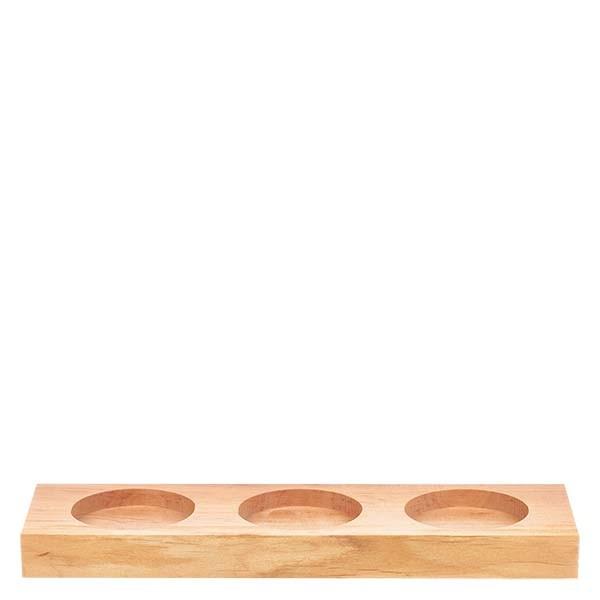 Servierbrett aus Erlenmassivholz für 3 Weck-Sturzgläser RR60
