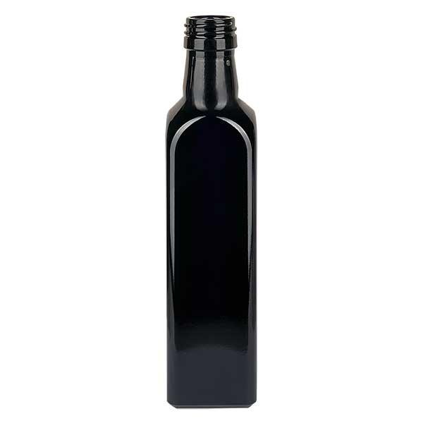 Ölflasche Violettglas 750ml eckig, UNI 31.5x24