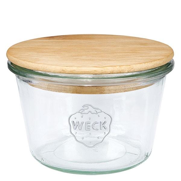 WECK-Sturzglas 370ml (1/4 Liter) mit Holzdeckel