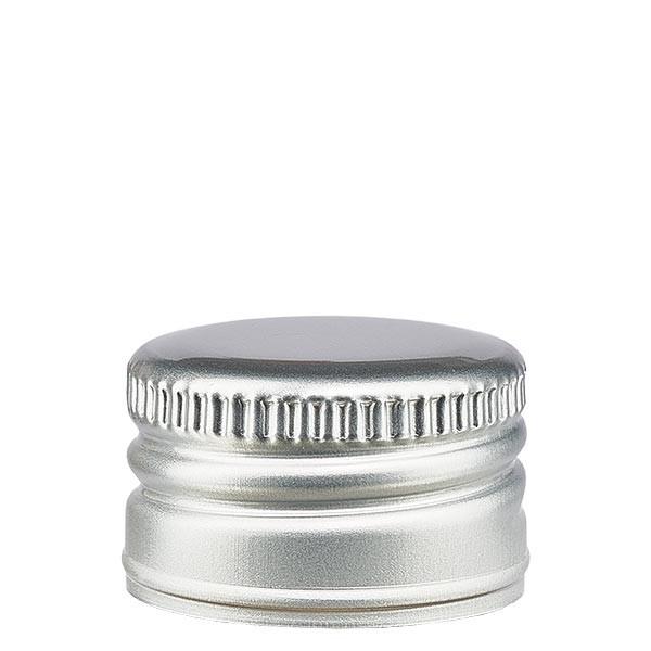 Aluminiumverschluss silber ohne Rollrand