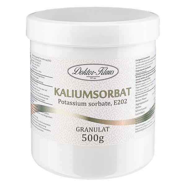500g Kaliumsorbat, in Dose mit weißem Schraubdeckel