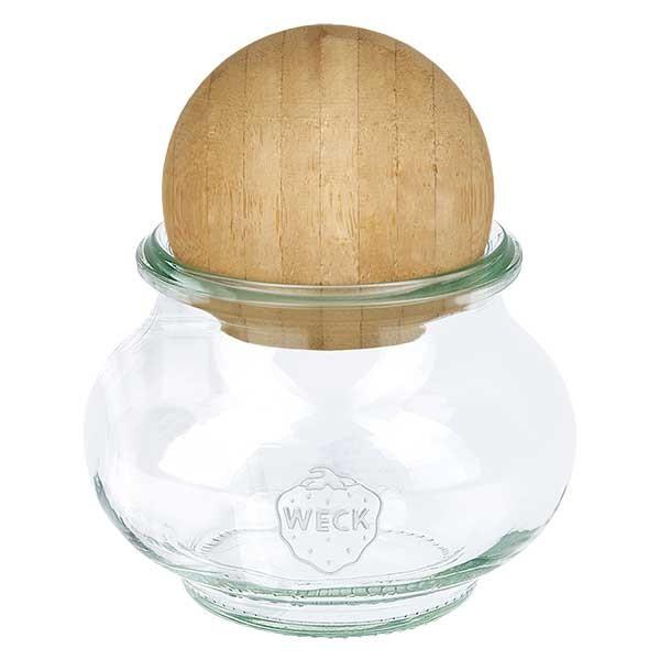 WECK-Schmuckglas 220ml mit Holzkugel