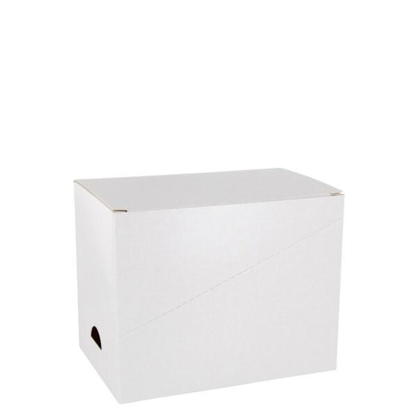 Transportbox K1 weisser Karton inkl. Gittereinsatz für 6 Fächer, Höhe 97mm