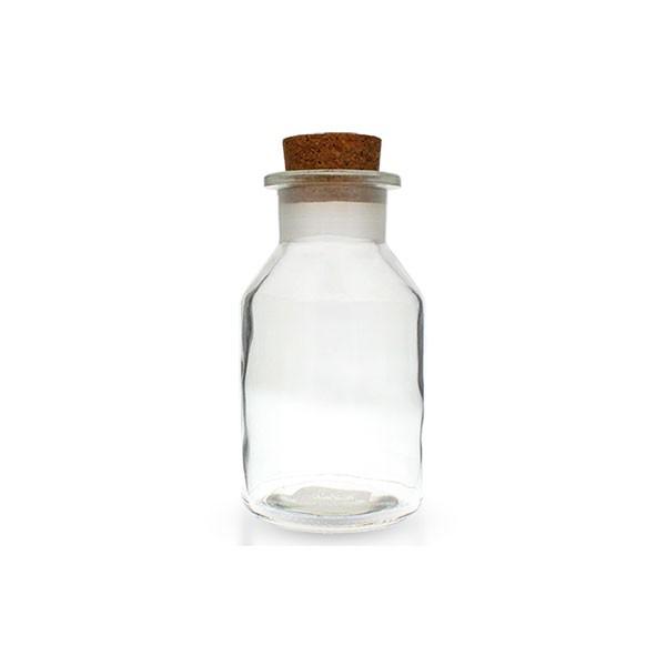 50ml Steilbrustflasche Weithals Klarglas inkl. Korken