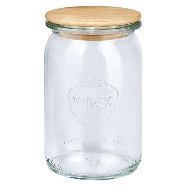WECK-Zylinderglas 145ml mit Holzdeckel