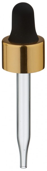 UNiTWIST Glas-Tropfpipette gold/schwarz 13mm PL48