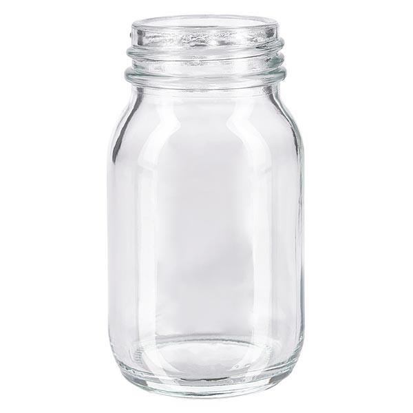 Weithalsflasche 100ml Klarglas mit DIN 40 Mündung ohne Verschluß