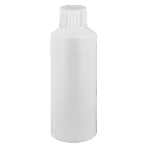 PET Zylinderflasche 75ml weiss, S20x3 mit weissem SV