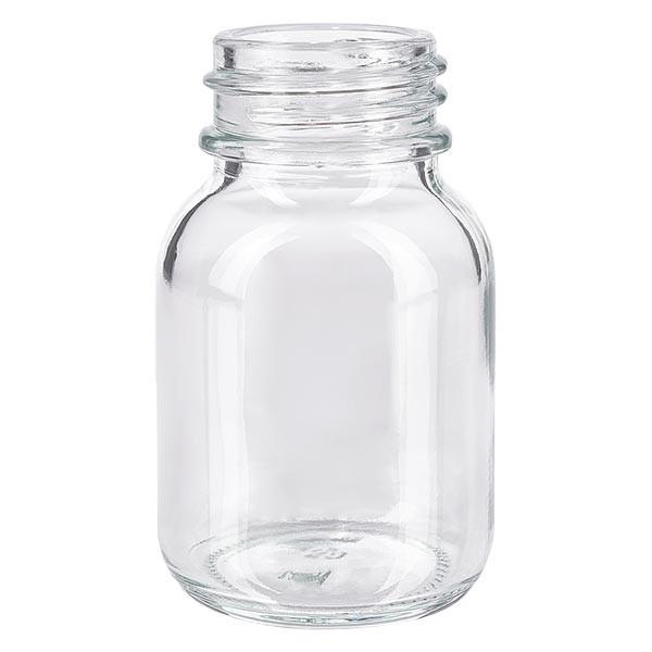 Weithalsflasche 50ml Klarglas mit DIN 32 Mündung ohne Verschluß