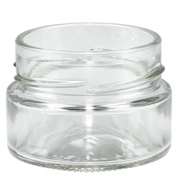 Twist-Off-Glas 80ml Rundrandglas