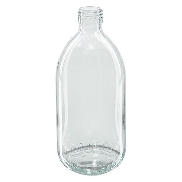 500ml Euro-Medizinflasche klar