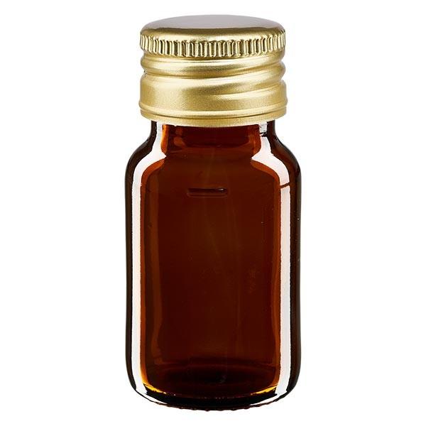 30ml Euro-Medizinflasche braun mit goldenem Aluminiumverschluss