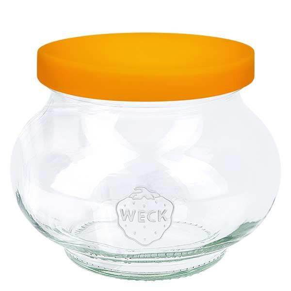 220ml Schmuckglas WECK RR60 mit Silikond. orange