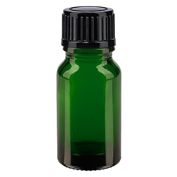 Apothekenfl. grün 10ml Tropfv. 1mm schwarz St