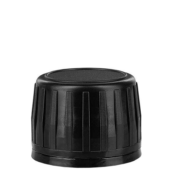 Schraubverschluss 28mm schwarz für Med.Flaschen mit OV-Ring