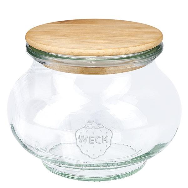 WECK-Schmuckglas 220ml mit Holzdeckel