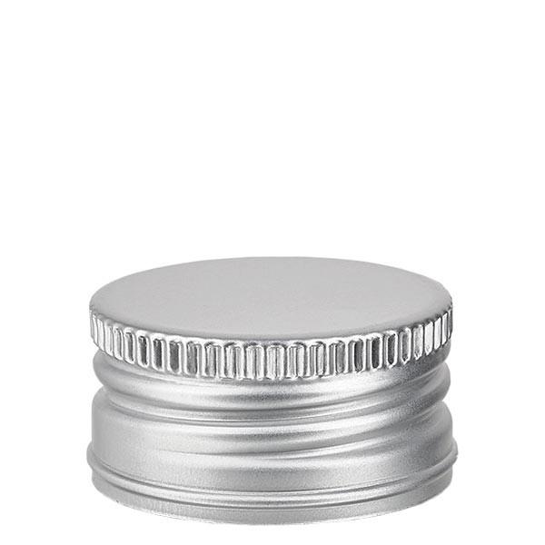 Schraubverschluss 31.5mm silber Alu geriffelt mit Bördelrand und Dichtscheibe