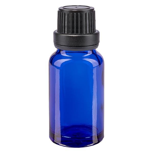 Apothekenfl. blau 10ml Tropfv. Pr. 2mm schwarz OV