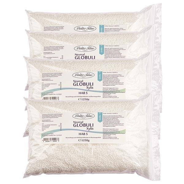 5.0kg Neutral Globuli HAB5 aus Xylit (zuckerfrei) (4 x 1.25kg)