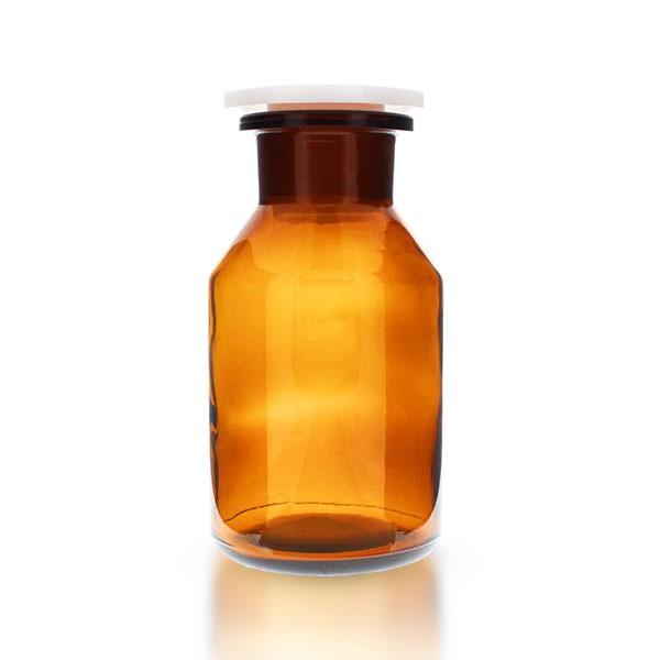 250 ml Steilbrust Weithalsflasche Braunglas mit PE-HD Stopfen
