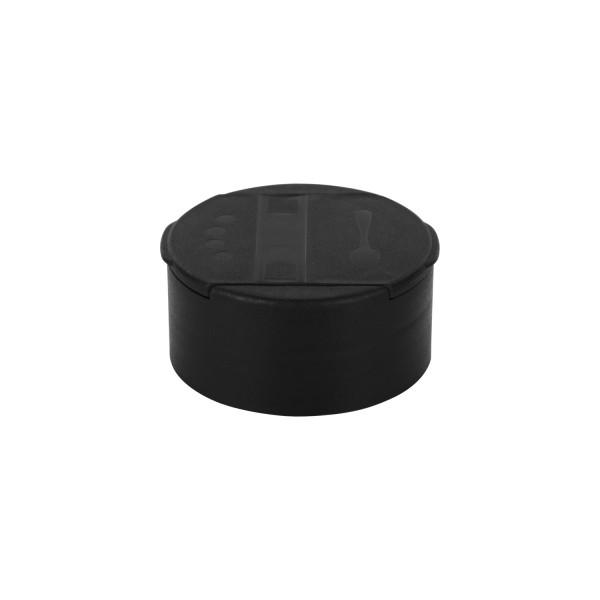 Streuer-Schraubverschluss, schwarz, 4-Loch Streuer fein / Entnahmeöffnung grob, 41mm, Standard