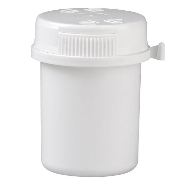 40ml Kunststoffdose weiß mit Press-on Verschluss weiß