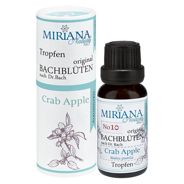 10 Crab Apple, 20ml Essenz (Ohne Alkohol), MirianaNature