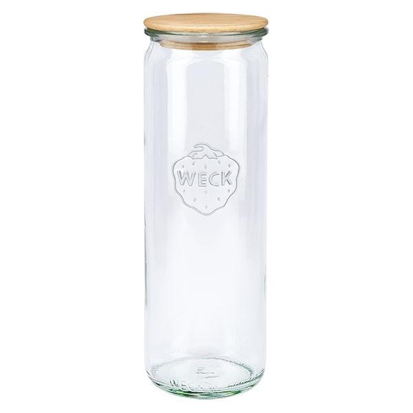 WECK-Zylinderglas 600ml mit Holzdeckel