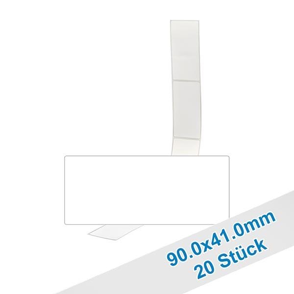 20er Pack Etiketten 90.0x41.0mm zum Beschriften