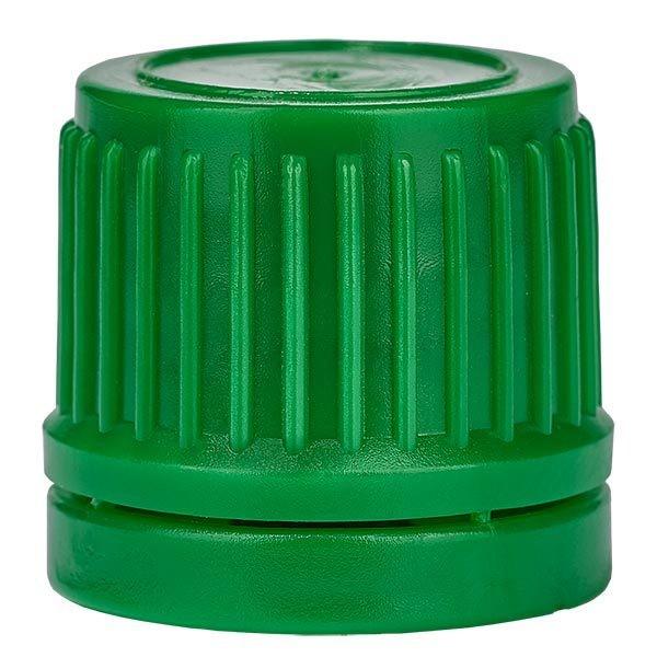 Schraubverschluss, grün, DIN18, mit OV