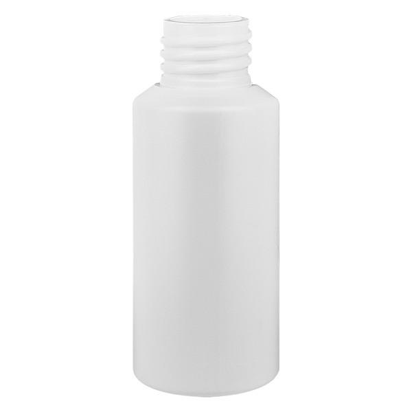 Zylinderflasche HDPE 30ml weiss, S20x3, ohne Verschluss