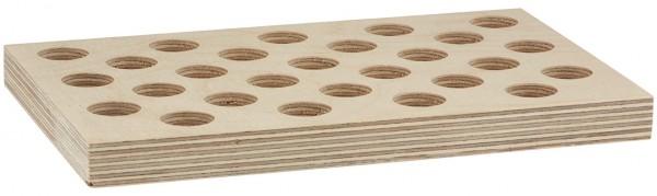 27er Sortierplatte für Rollrandgläser (Tablettengläser) 5ml