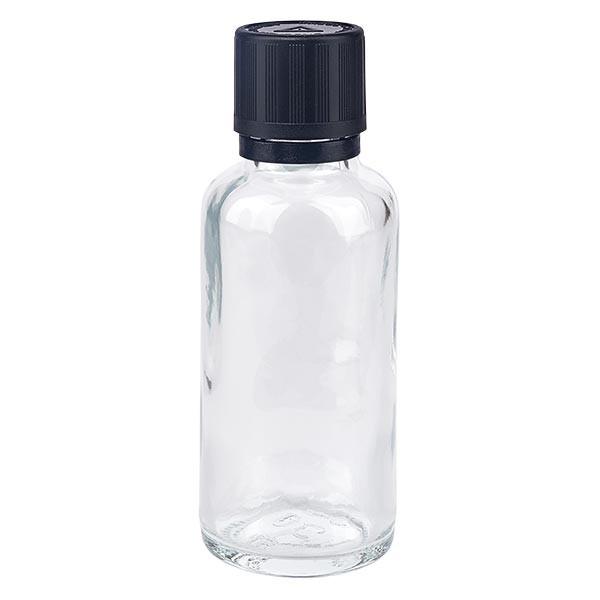Apotflasche klar 30ml Tropfverschluss Pr. 1mm s. KiSi Bliw OV