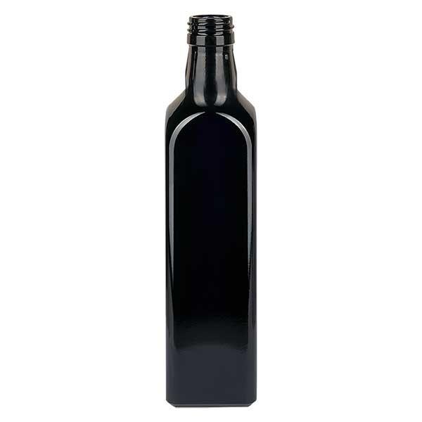 Ölflasche Violettglas 1000ml eckig, UNI 31.5x24