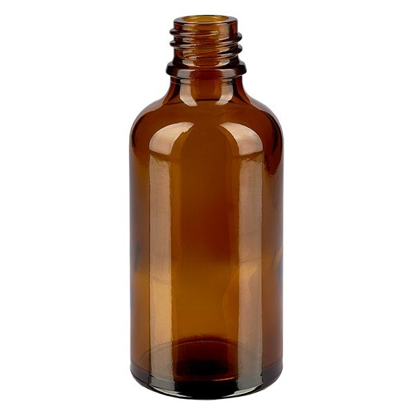 Tropfflasche 50ml DIN18 Braunglas Apothekenglas