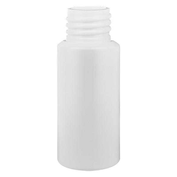 Zylinderflasche HDPE 20ml weiss, S20x3, ohne Verschluss