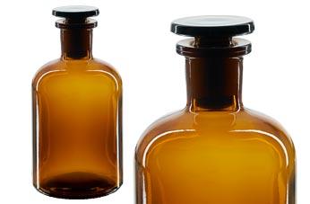 Gem Bild Hohe QualitäT Und Preiswert Braunglas Geschliffene Glasstopfen Alte Apothekerflaschen