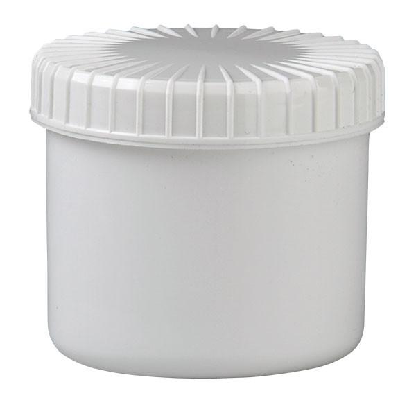 135ml Kunststoffdose weiss mit Schraubdeckel gerillt
