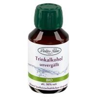100ml Bio-Primasprit 96% vol. Alc. in brauner PET Flasche mit OV (Weingeist Trinkalkohol)